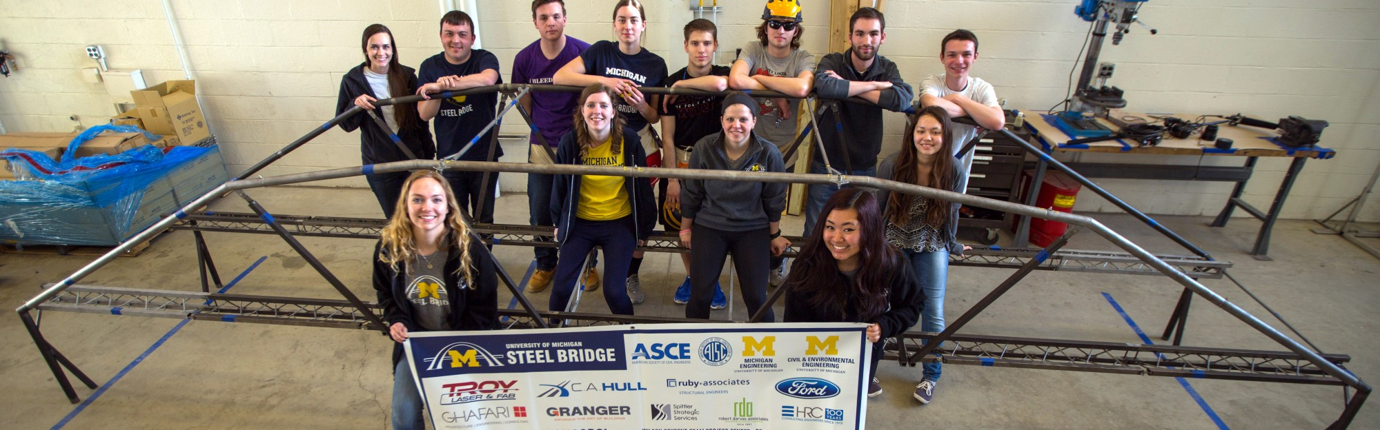 um steel bridge team pic